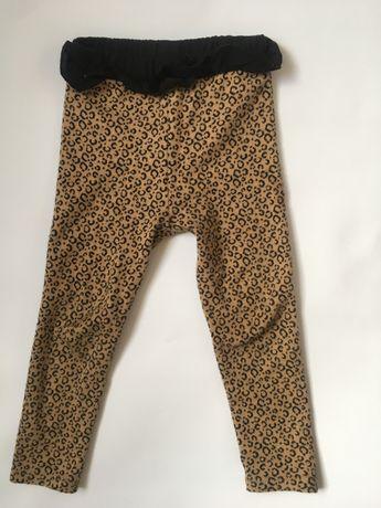 Штаны лосины Zara knit 3-4 104 с бантиком