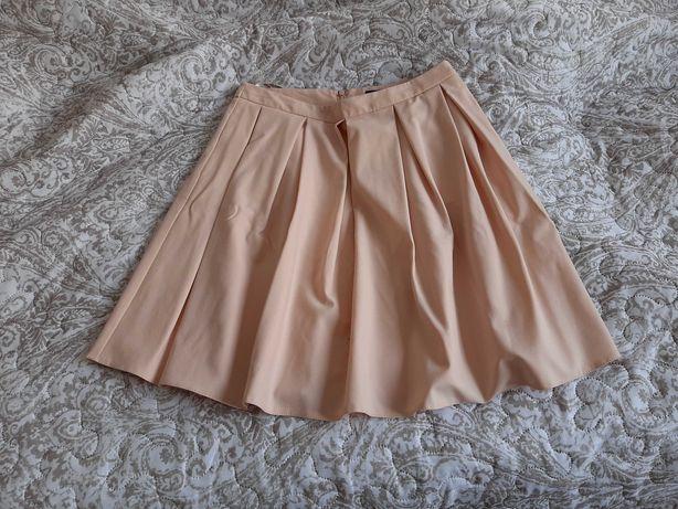 Spodnica mohito 38 M plisowana pastelowy z podszewka