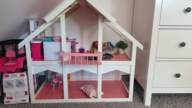 Domek dla lalek, drewniany, do pomalowania
