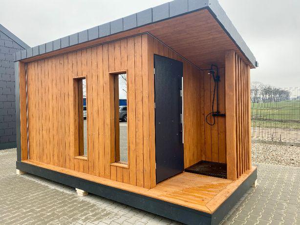 Sauna ogrodowa z przedsionkiem i prysznicem A.B.Z.