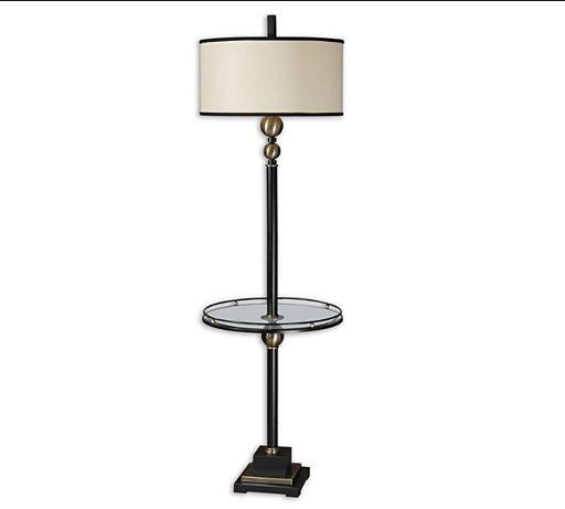 Торшер с столиком, напольный светильник