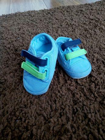 Buty, buciki, niechodki, niebieskie, dla chłopca, sportowe, adidasy