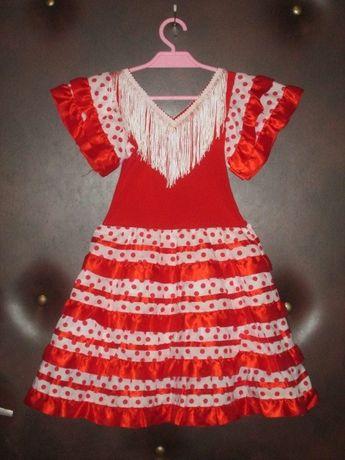 strój karnawałowy dla dziewczynki na 92 - 98 cm tancerki hiszpanskiej