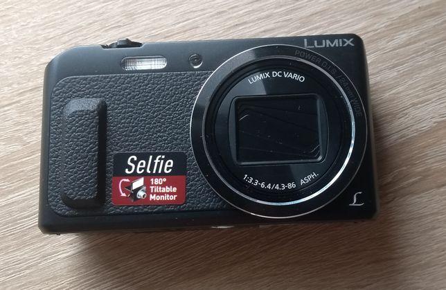 Aparat fotograficzny Panasonic Lumix TZ57 selfie obr. monitor + etui