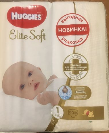Подгузники Huggies Elite Soft 3-5 кг 100 шт