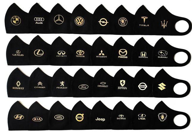 Многоразовая маска Питта с логотипом авто, брендов