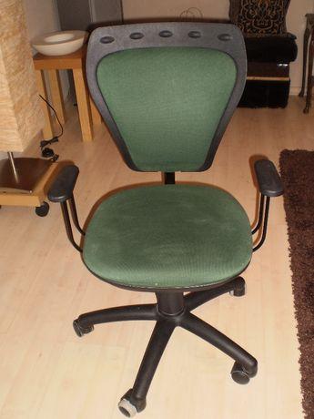 Krzesło PNEUMATYCZNE, obrotowe, na kółkach, młodzieżowe, STAN B. DOBRY