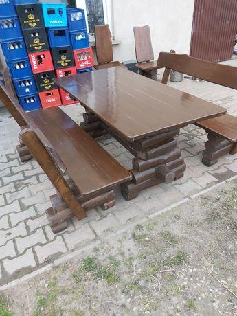 Stół i ławki ogrodowe