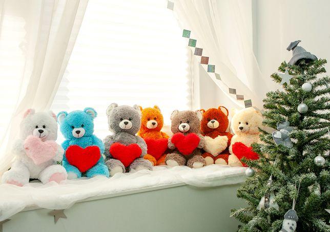 Плюшевый мишка с сердцем, плюшевый медведь - доставка 1 день