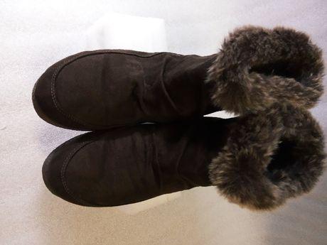 Сапоги F&F женские полу сапожки ботинки 38 размер UK 5 демисезон