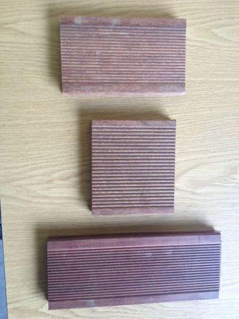Decks pavimentos de madeira natural 7cm