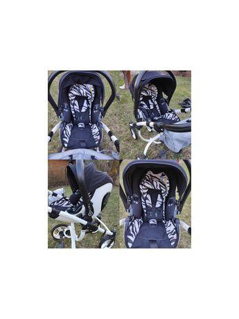 Wózek Bebetto Luca 3 w 1 fotelik samochodowy Kiddy Evolution Pro zebra