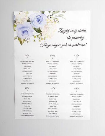 Plan stołów ślubnych