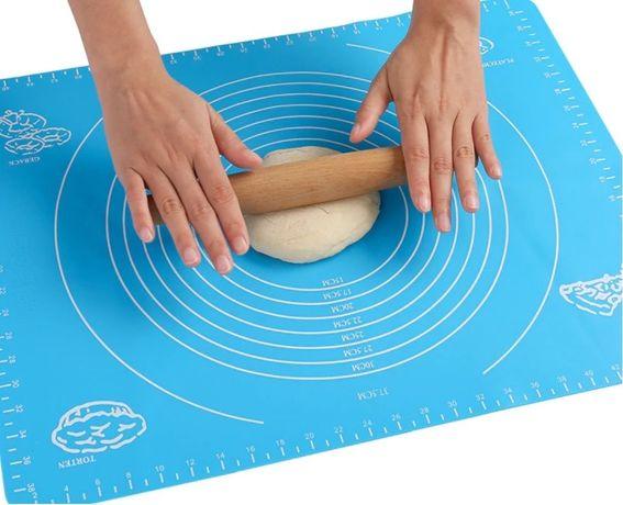 Силиконовый коврик 50*70 ; 70*70 для выпечки и раскатки с разметкой