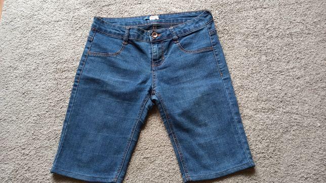 jeansowe szorty do kolan