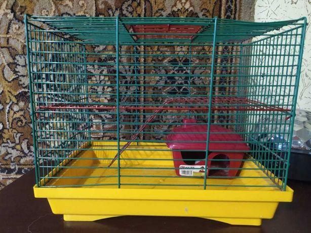 Клетка для хомяков с домиком