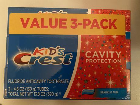 Зубная детская паста США Crest Kids