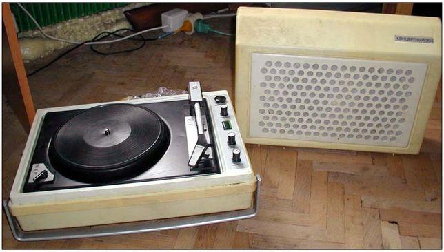 Электрофон Концертный 304, проигриватель пластинок