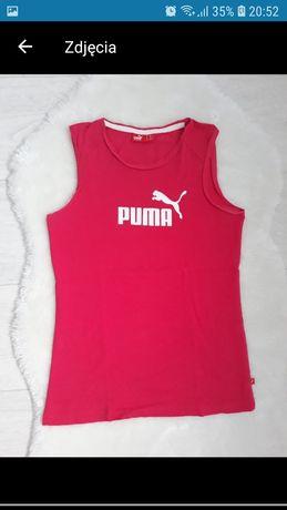 Bluzka koszulka top t-shirt różowa ramiączka firmy Puma 152 sport