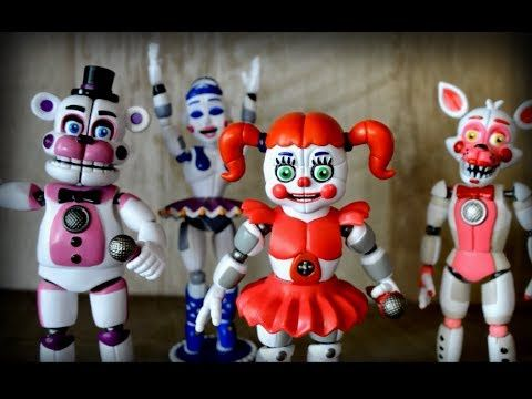 FNAF Five Nights at Freddy's Foxy Sister Location - Conj. 5 bonecos