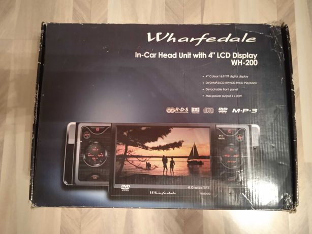 "Radio samochodowe 4"" LCD Wharfedale CD MP3"