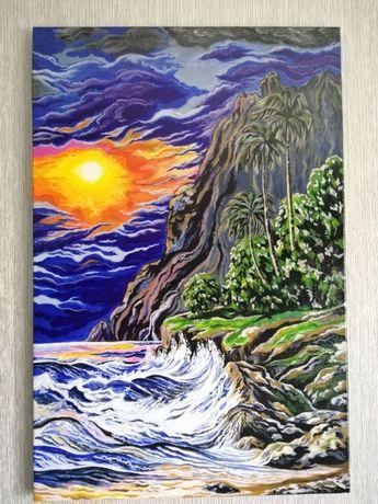 Картина Волны Почувствуй Шум моря Купить подарок купить картину