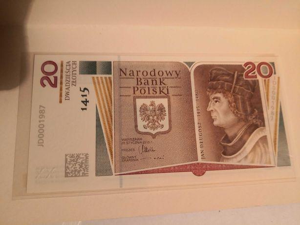 Kolekcjonerstwo Jan Długosza banknot UNC prosto z banku