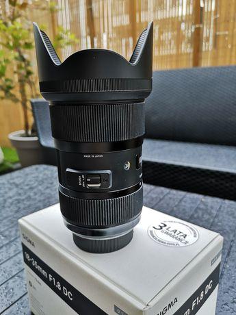 Obiektyw Sigma 18-35mm/f.1.8 Nikon z filtrem polaryzacyjnym hoya