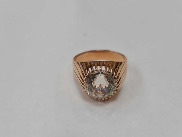 Wiekowy złoty pierścionek damski/ Radzieckie 583/ 6.21 gram/ R19