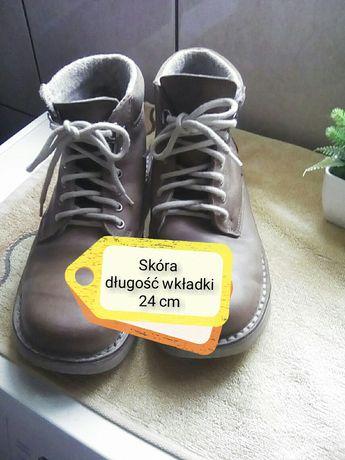 Zimowe skórzane buty