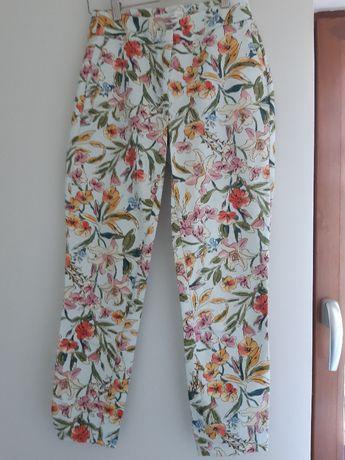 super letnie spodnie materiałowe Reserved xs 34 7/8 taliowane