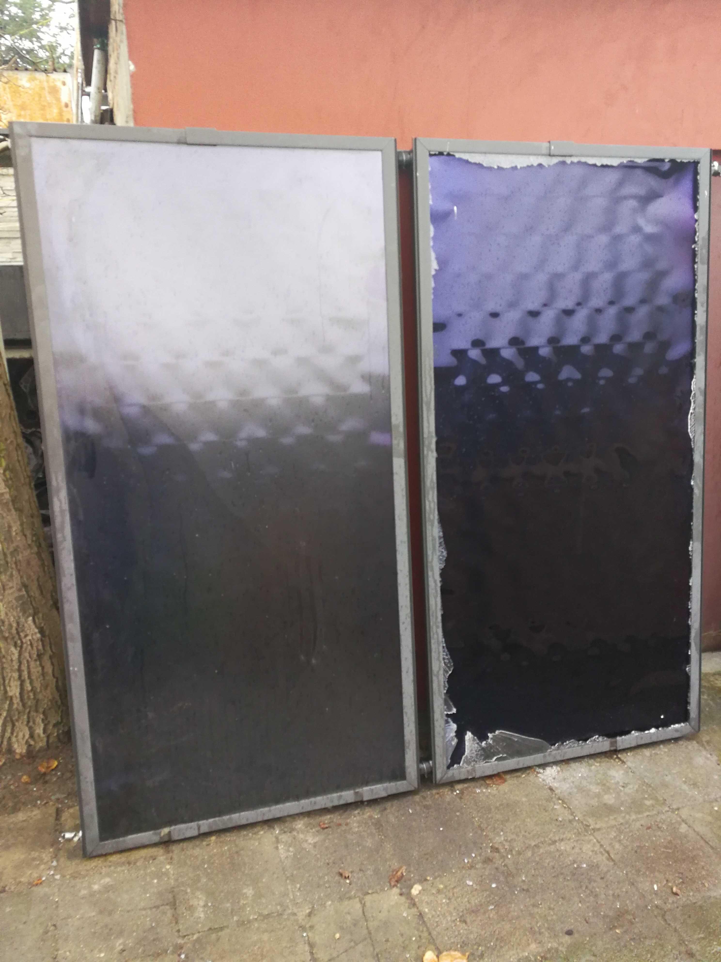 Kolektory słoneczne panele fotowoltaiczne solary oczyszczalnia ścieków