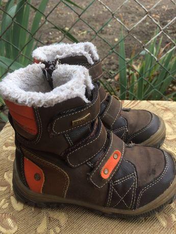 Зимові шкіряні черевики, чоботи