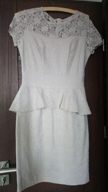 Sukienka beżowa L