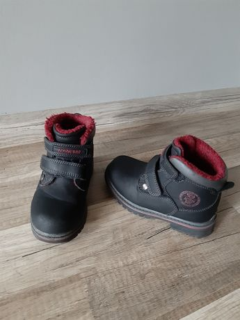 Trapery zimowe r.27 buty 17,5 cm czarne Lasocki chłopięce