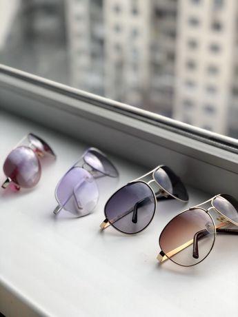 Очки солнцезащитные. Розовые очки капельки