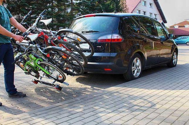 Bagażnik rowerowy na hak (na 4 rowery) 7 PIN 13 PIN– wynajmę/wypożyczę