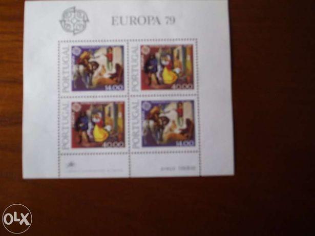 Outras - Colecções e Antiguidades - Bloco Filatélico Europa 79