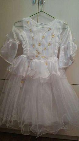 Продам нарядное платье на Новый год для девочки 5-7 лет. Длина 80 см