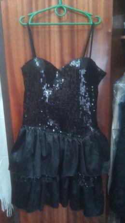 Выпускное платье с фатином и пайетками