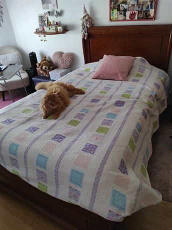 Mobília de quarto em cerejeira e colchão como novo