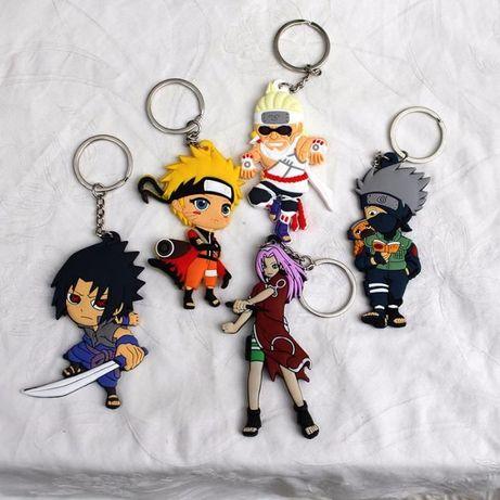 5 pcs Naruto Portachaves em Silica Gel