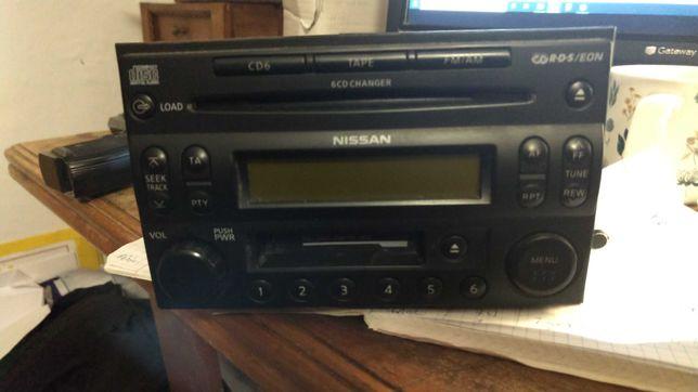 Radio zmieniarka CD Nissan X-Trail Pathfinder Navara z kodem!