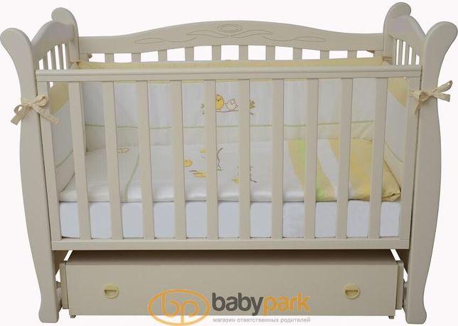 Кровать детская+матрас+мобиль+бортики+балдахин