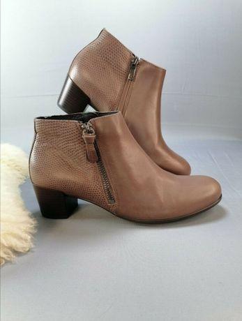 Женские кожаные ботинки ecco. Кожа оригинал р. 36