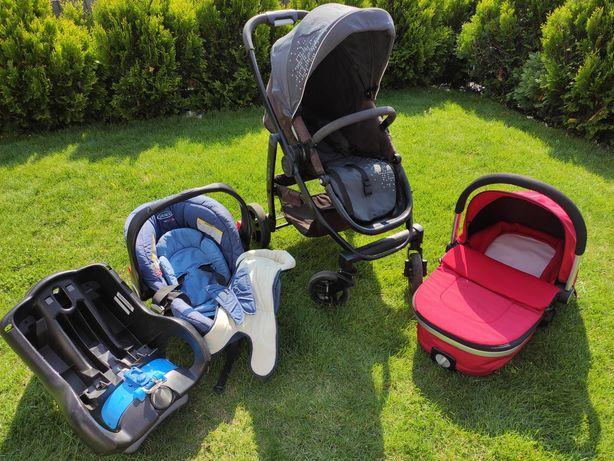 Wózek Graco Evo 3w1, gondola, spacerówka, fotelik/ nosidło