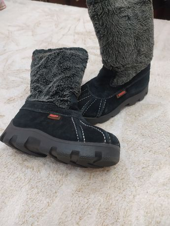 Зимние ботинки детские, замш