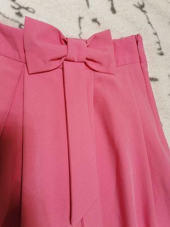 Spódnica z kokardą, MOHITO rozmiar 34/XS, roż, różowy.