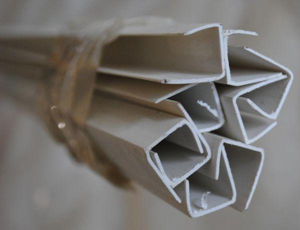 Торцевая рейка или стартовая для гипсокартона из ПВХ 12,5 мм * 3 м 9шт