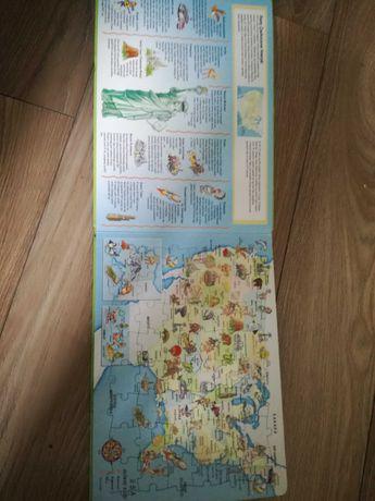 Zamienię puzzle dla dzieci mapki
